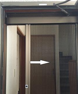 ジャバラ網戸交換 開閉方法