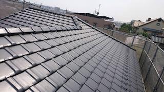 軽量瓦屋根の葺き替え