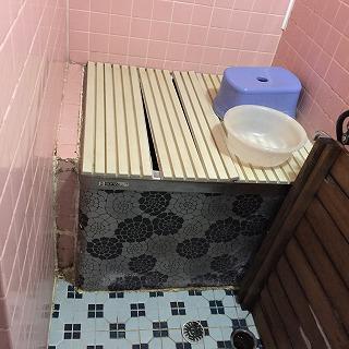 浴室水漏れBEFORE