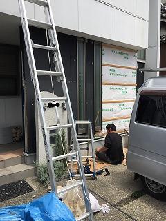 外壁部分張替え 解体作業