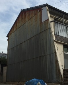 外壁トタンの錆