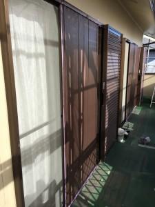 雨戸の塗装1