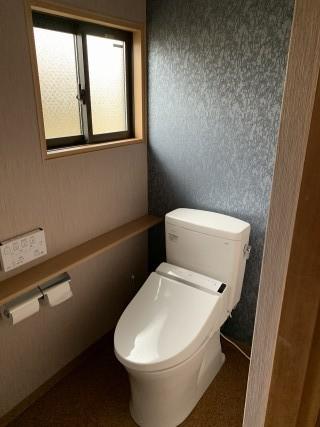 トイレ壁紙はりかえ