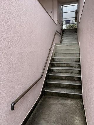 アパート階段手すり