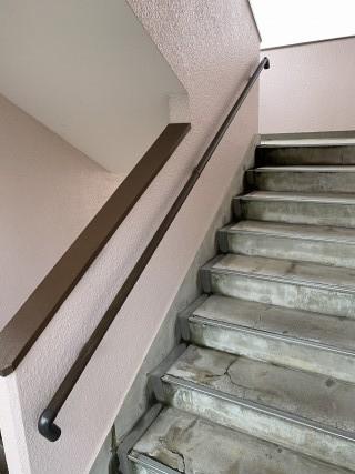 アパート階段手すり設置