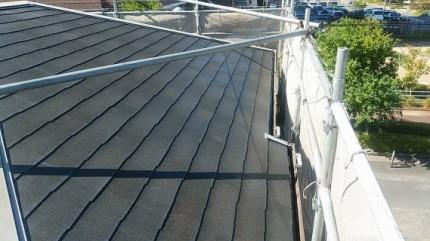 屋根の洗浄完了後