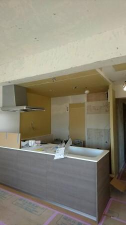 マンション キッチンリフォーム工事中