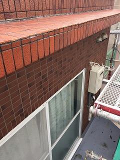 雨漏り箇所のベランダ屋根