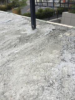 屋上の様子 雨漏り