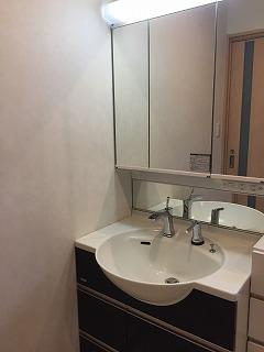 洗面の水栓 輸入品の交換