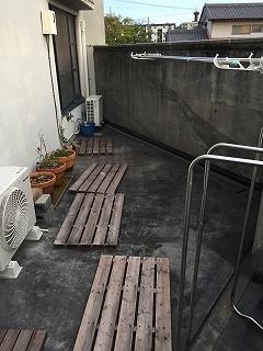 ベランダ防水劣化の様子