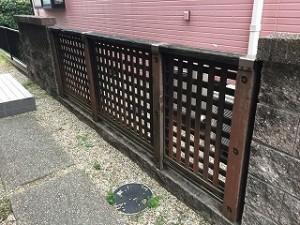 フェンス設置BEFORE