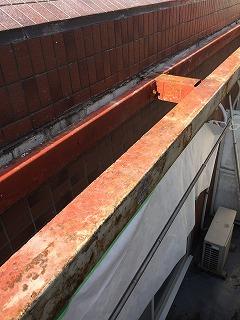 ベランダ屋根の解体