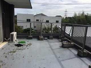 台風被害 屋上