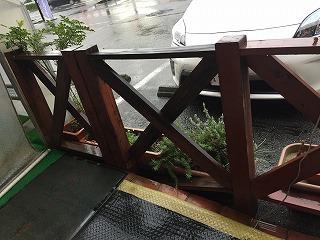 木製フェンスの交換相談