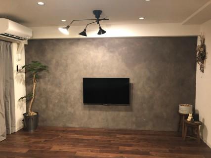 壁掛けテレビの造作