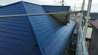 屋根材コロニアルの塗装