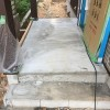 玄関タイル施工