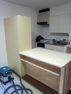 キッチンカウンターの作成3