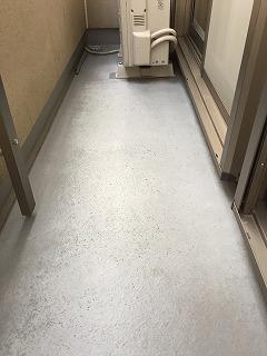 ベランダ床の塗装BEFORE