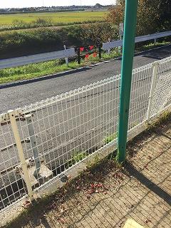 フェンスの修繕2