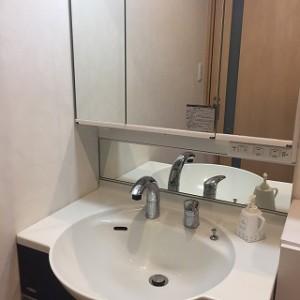 洗面の水栓交換BEFOR