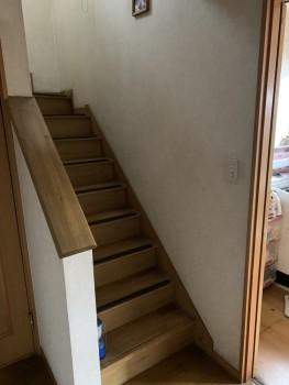 室内階段の手すり設置BEFORE