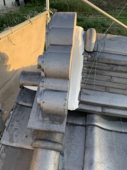 屋根瓦の漆喰