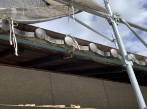 瓦屋根の漆喰 修繕
