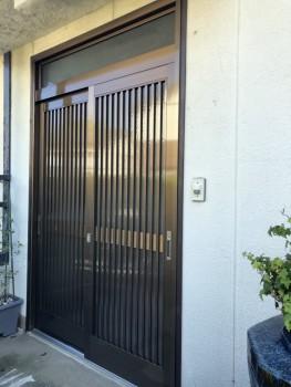 引き戸玄関ドア交換