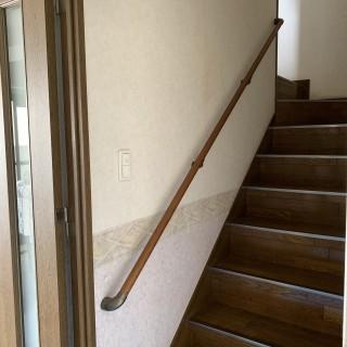 室内階段の手すり設置