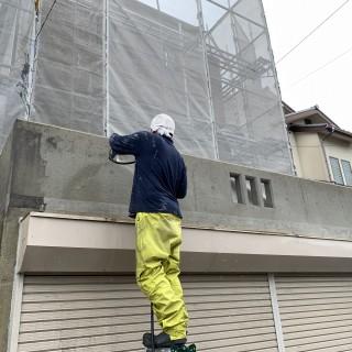 外壁塗装の洗浄作業2