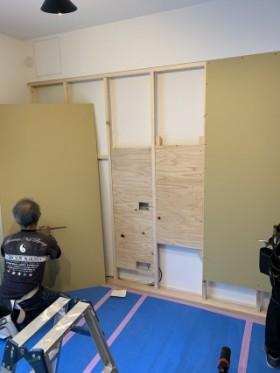壁ふかし工事2