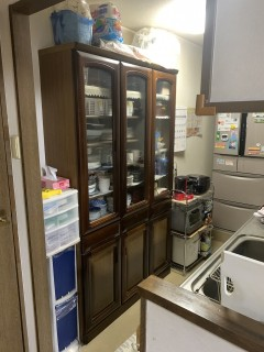 キッチン食器棚BEFORE