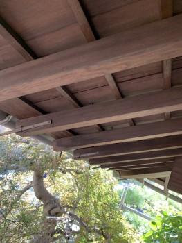 木の軒天 塗装