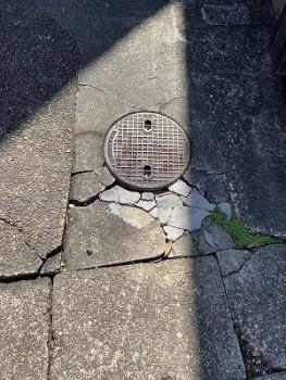 土間コンクリート割れ2