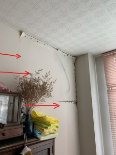 ベランダ床からの室内雨漏り