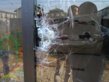 名古屋の工務店 ファインホーム のブログ-割られたガラス2
