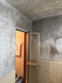 浴室 在来工法の壁