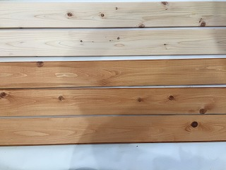 ひのき床塗装
