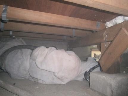 床下断熱 吹付