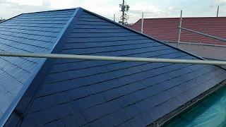 屋根材コロニアルの塗装2