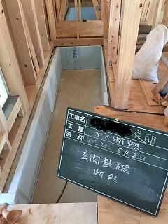玄関の断熱材