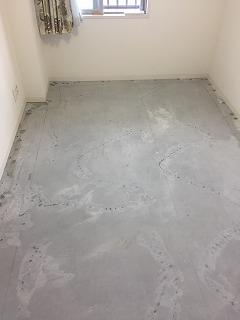 洋室 床張替え工程2
